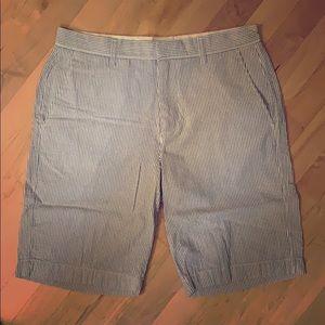 J. Crew Blue Seersucker Shorts